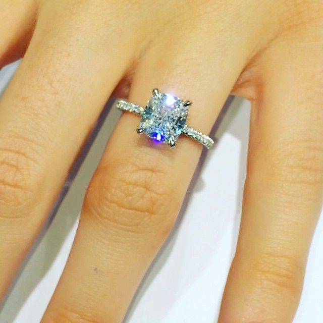 No Introduction Necessary 3 Carat Cushioncut In RS 63 Design By SnapchatEngagement RingsChange