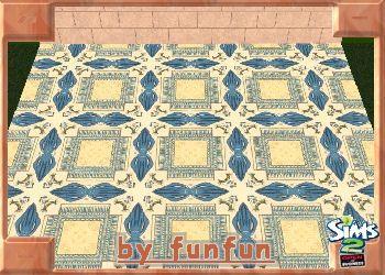 Boden - Ägyptisch blau