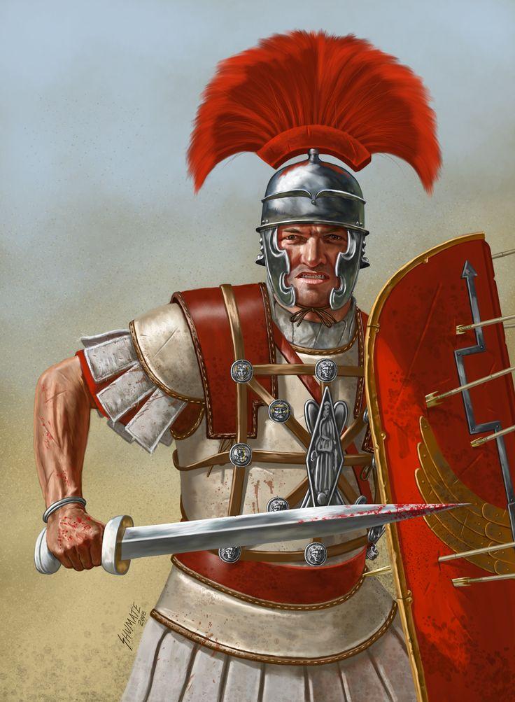 Roman Centurion, 1°s BC..- SOUMISSION GALE BELGIQUE 57 av JC 1) BATAILLE de SABIS, 26: Au centre les 8° et 11° légions repoussent l'ennemi, le VIROMANDUENS, dans la rivière, laissant l'aile droite et le camp en position dangereuse. Le gros de l'armée, composé des NERVIENS de BODUOGNATOS, entoure les 2 dernières des 6 légions de la 1° ligne et s'empare du camp romain, mettant en fuite les aides du camp, la cavalerie et l'infanterie légère déjà battues, ainsi que les troupes auxiliaires…
