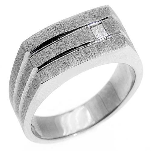 Best Mens carat princess square cut diamond ring wedding band kt white gold