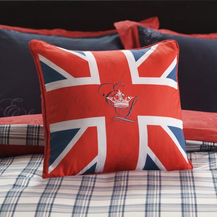 English Laundry Stockport Union Jack Decorative Pillow - ELSPORT18x18B