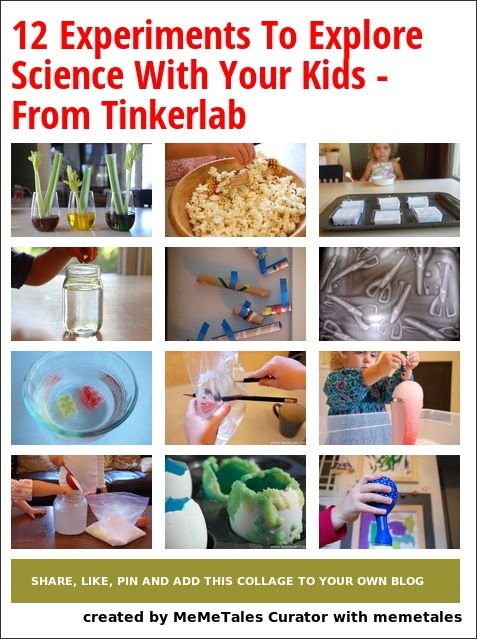 12 Creative Experiments For Curious Kids – Exploring Science on Tinkerlab