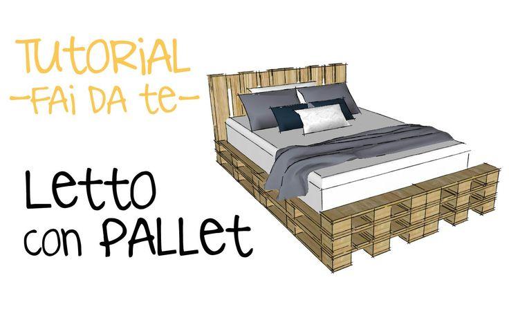 PROGETTARE LETTO CON PALLET - progetto con bancali fai da te- tutorial p...
