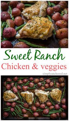 Delicious and easy 21 Day Fix approved sweet ranch chicken and veggies