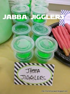 Star Wars Party ... Food - Jabba Jigglers The grown up version would be necessary...