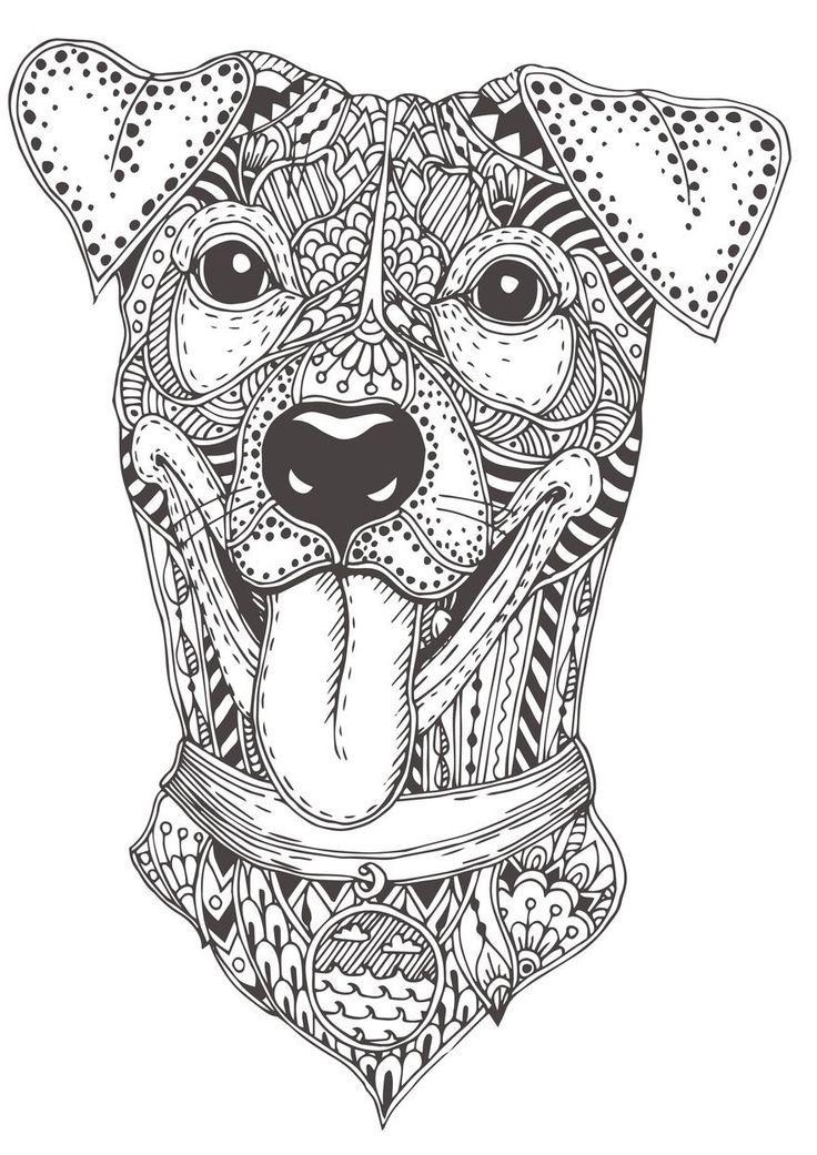 Mandala Dogs Coloring Book - Relaxing Cute Ornamental Dog ...