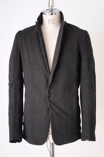 individual sentiments 2013-14 Autumn Winter Collection.  The jacket is made from a Nap Raised Cotton Linen Cashmere fabric.It features a slash pockets at the side seams for details.Classic 1-B Jacket by individual sentiments. Material: 52% Cotton 26% Linen 19% Wool 3% Cashmere
