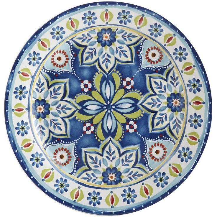 Mediterranean Tile Salad Plate