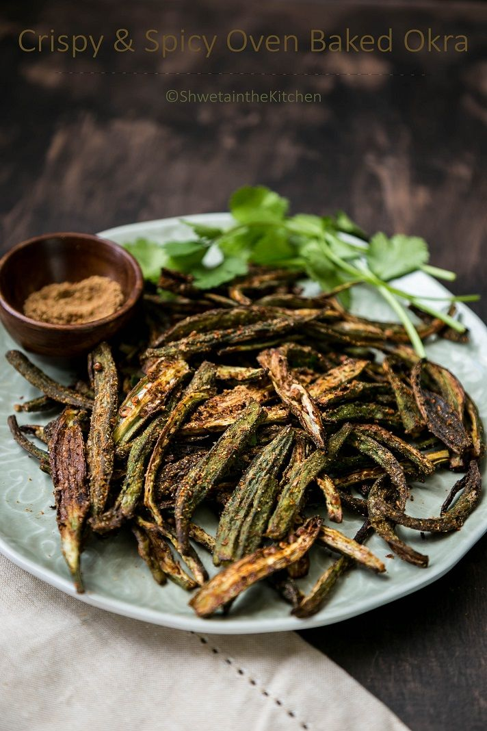 CrispyBhindi is a super easy Indian appetizer/snack made by baking Okra in the oven and then tossing it with some Indian spices. This is...