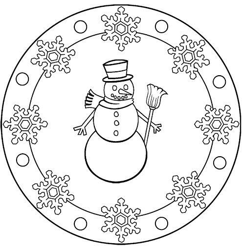 snowman mandala coloring (1)