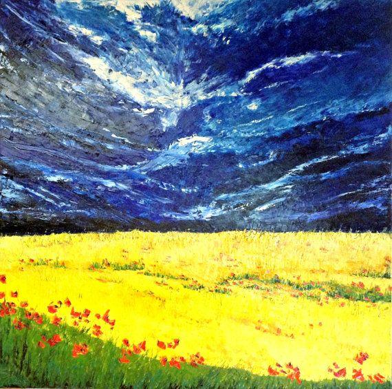 Original huge modern landscape  painting by ITsARTbySNOWBEE