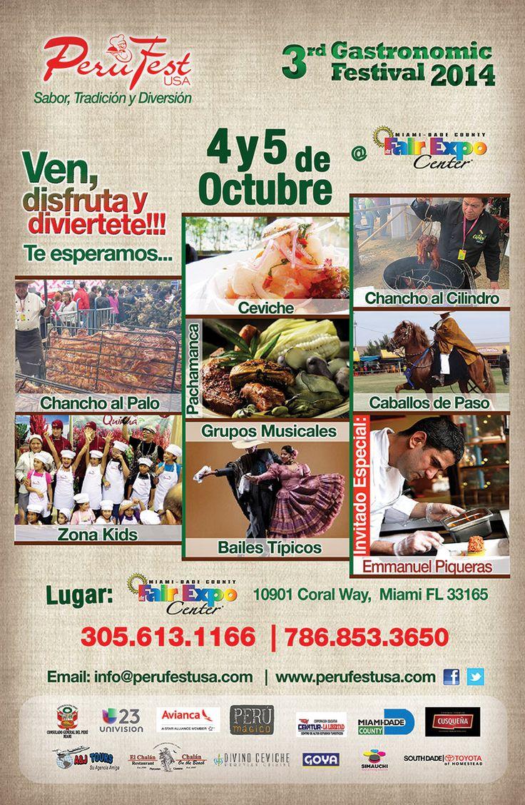 Por tercer año consecutivo, la comunidad peruana y latinoamericana se viste de gala para recibir el mega evento gastronómico más grande de Miami, Perufest USA…