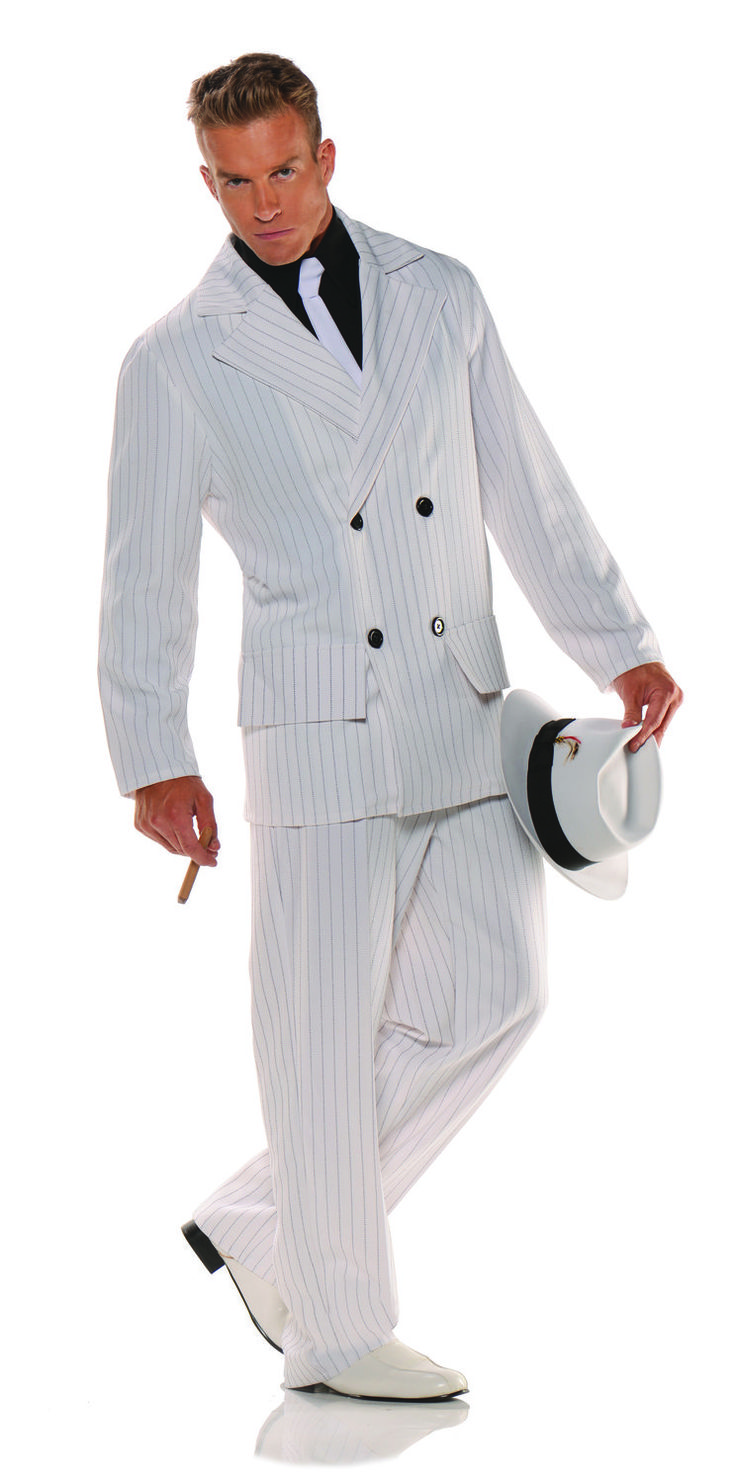 1920S Smooth Criminal Gangster Adult Costume - Roaring 20 -6717