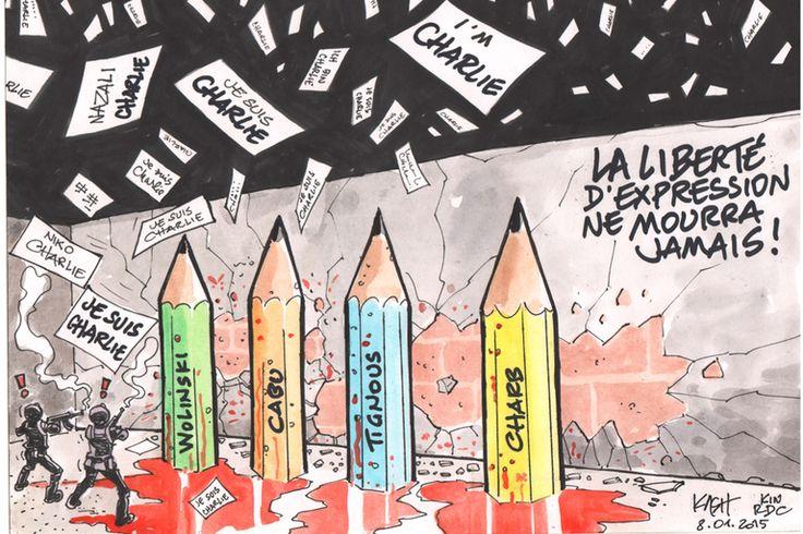 « La meilleure façon de venger les copains qui sont tombés, c'est de continuer à faire ce travail avec la même virulence », a déclaré jeudi 8 janvier à Kinshasa le dessinateur congolais Kash dans une cérémonie au centre Wallonie-Bruxelles