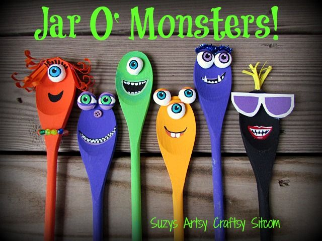 Jar O' Monsters Halloween Decor :: Hometalk