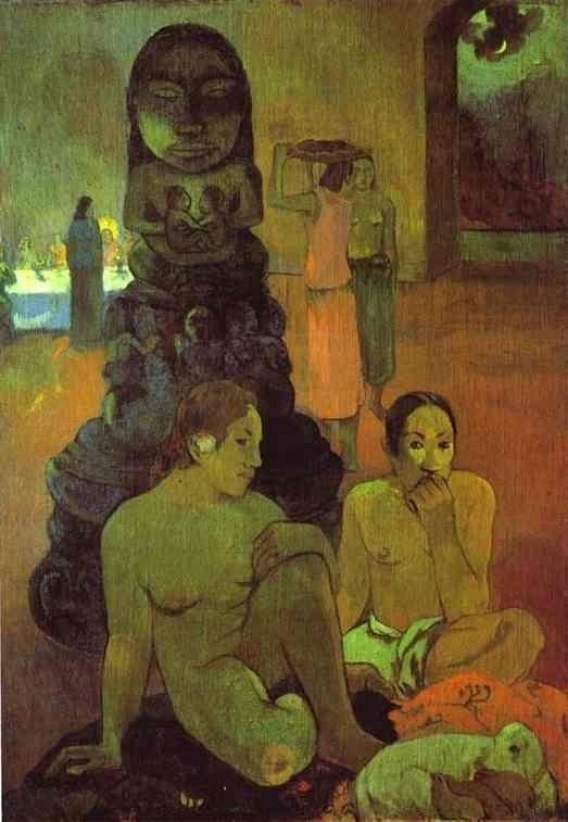 Paul Gauguin (Tahiti) Büyük Buddah satılık yağlı boya