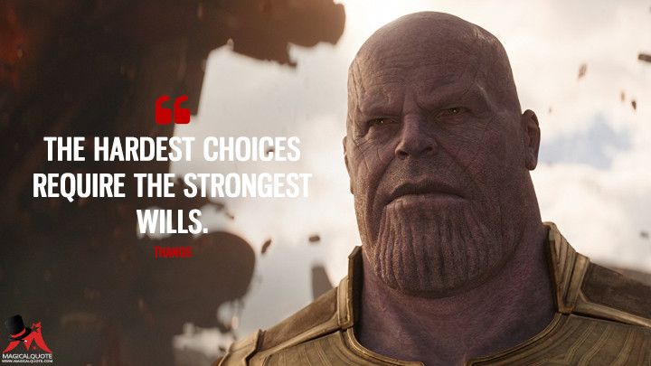 The hardest choices require the strongest wills Marvel