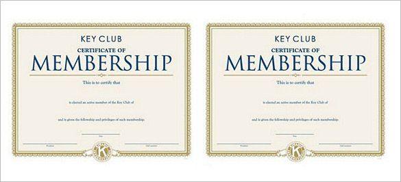 Membership Certificate Templates 10 Free Printable Word Pdf Samples Certificate Templates Doctors Note Template Membership Card