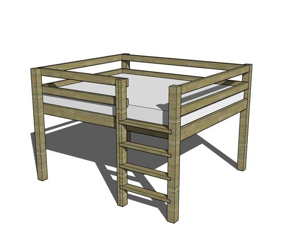 Queen bunk bed plans woodworking projects plans for Bunk bed woodworking plans