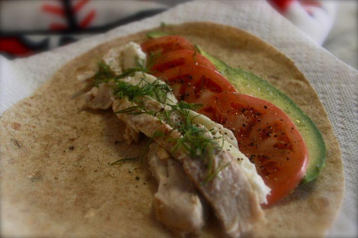"reviveexploration: ""Another one of my own recipes. Avocado Pollo Alla Griglia Multigrain Wrap, Grilled Chicken, Avocado,Tomatos, Lemon Juice, Mozzarella, salt, pepper, dill """