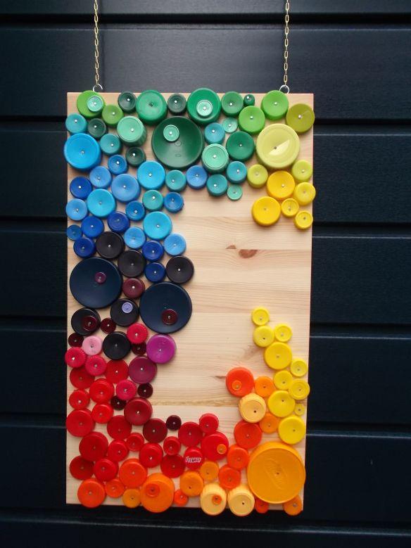 doppenkunst/bottle cap art