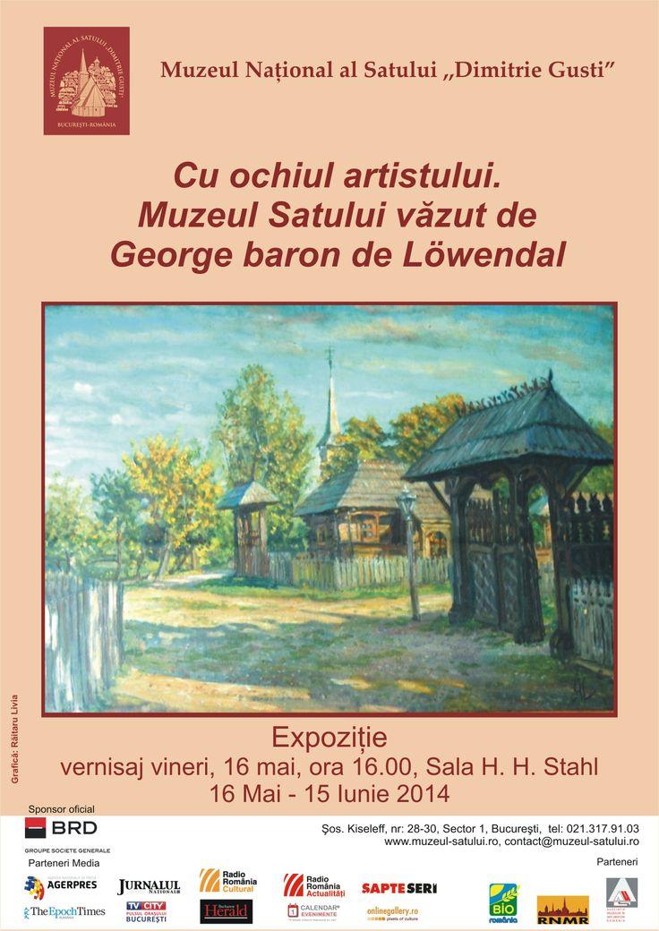 Cu ochiul artistului. Muzeul satului vazut de George baron de Lowendal, 16 mai, ora 16.00, sala H.H. Stahl