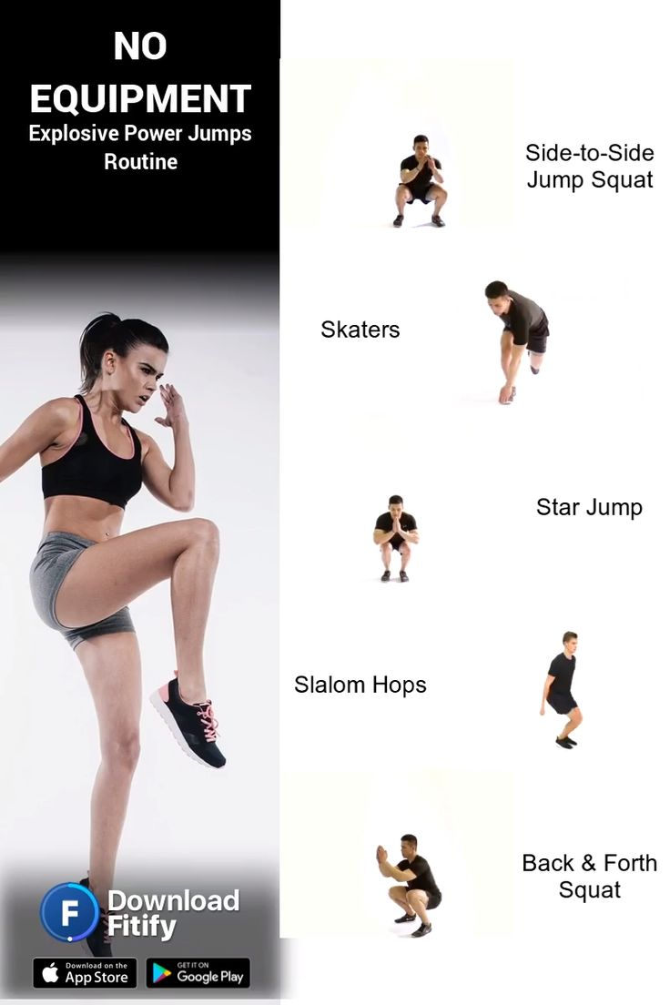 Power Jumps workout without Equipment