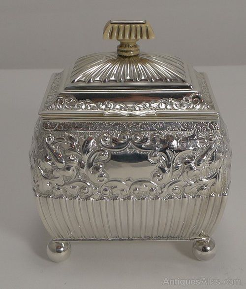 Antiques Atlas - Fine Quality Antique English Silver Tea Caddy