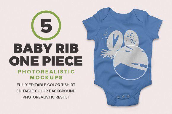 Baby Rib One Piece Mockups by Antonio Padilla on @creativemarket