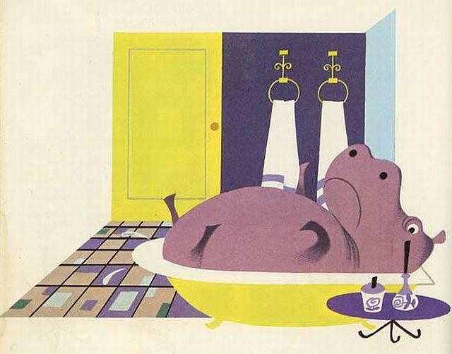 Henry the hippo, Elisabeth Brozowska 1969 illustrations