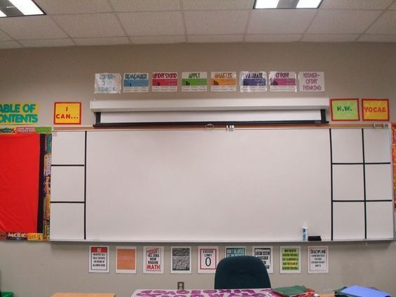 Type-A Mathland: Classroom Tour - amazing math classroom with great decor for all of us middle school teachers looking for something more than boring walls!