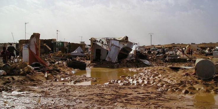 Imágenes de las inundaciones en los campos de refugiados saharauis de Tinduf.- El Muni.