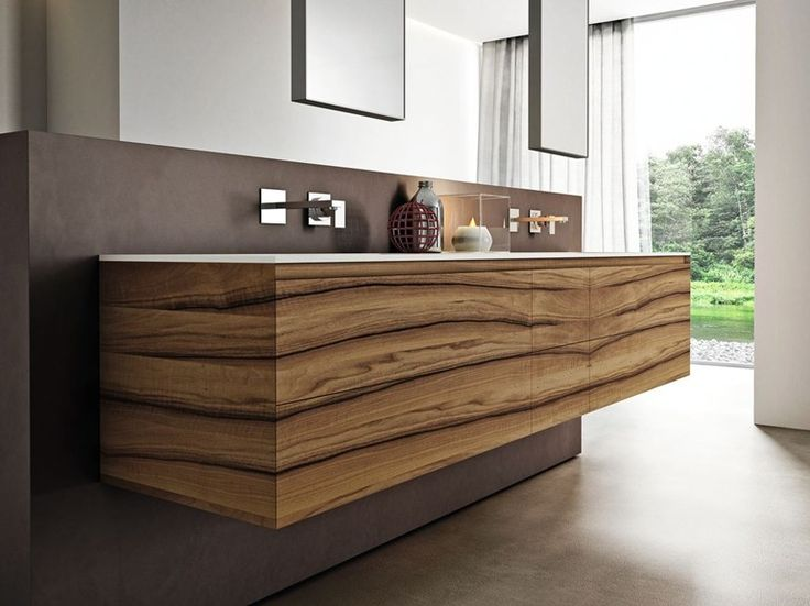 Arredo bagno completo in noce CUBIK N°01/A by IdeaGroup