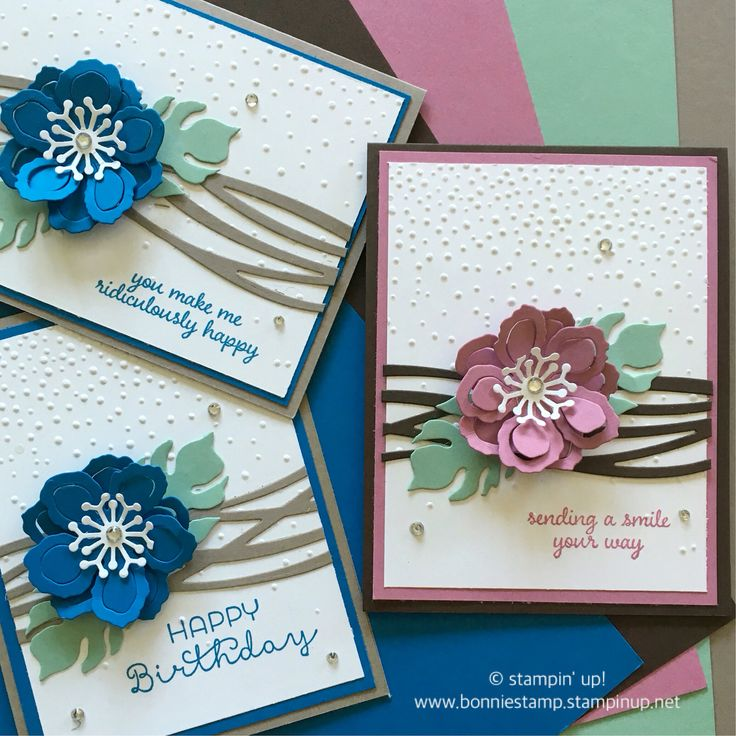 When you see a pretty card on Pinterest and decide to case it with a few twists... www.bonniestamp.stampinup.net