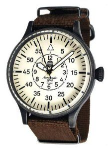 Aeromatic 1912 Aviator Watch with Instrument Type Dial, NATO Band A1355 Aeromatic 1912. $135.00
