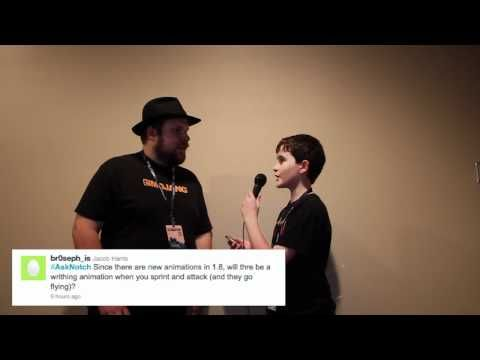 Notch Answers Minecraft 1.8 Questions - Community Questions for Markus (Notch) Persson - YouTube