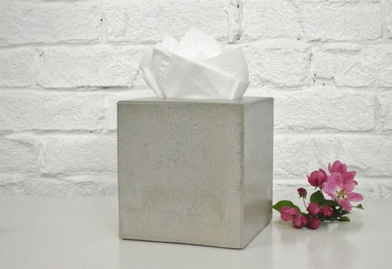 Concrete Tissue Box Cover / Kleenex Tissue Box Cover by fmcdesign