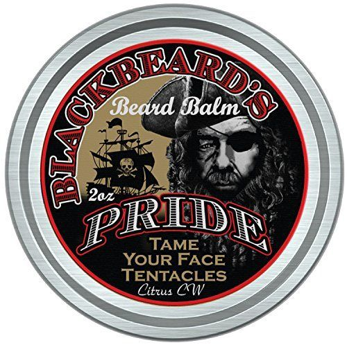 BlackBeards Pride Beard  Mustache Balm Leavein Hair and Skin Conditioner All Natural Pure Botanicals Butters and Essential Oils Suitable for all Beard and Mustache Types Mild Cedarwood Citrus Scent 2 Ounce Tin with Carrying Pouch * Check this awesome product by going to the link at the image.