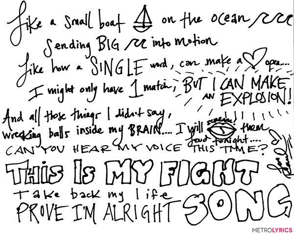 "Rachel Platten Wrote Out Her Empowering ""Fight Song"" Lyrics #RachelPlatten #FightSong #Lyrics"