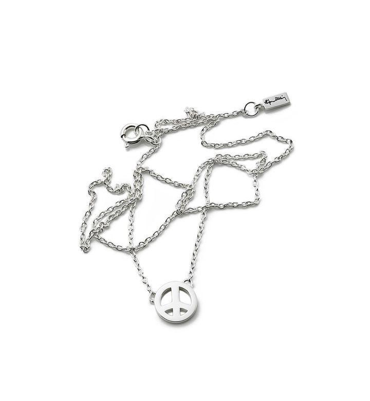 Halsband i sterlingsilver med fredssymbol... Efva Attling