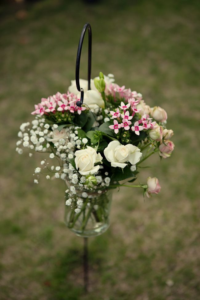 Vintage Style Blush Pale Pink Wedding Flowers By