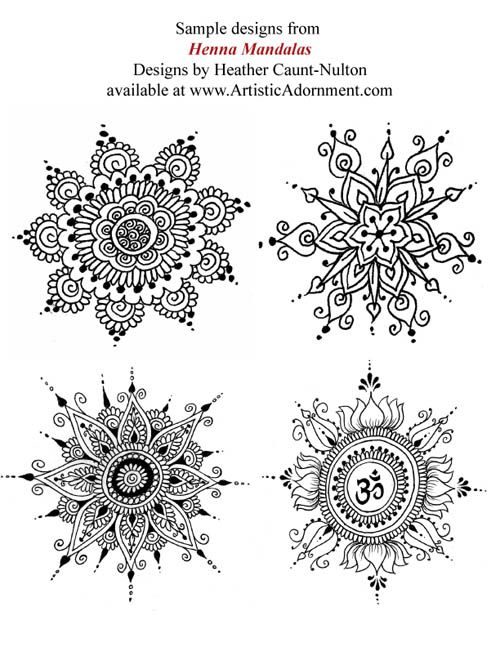 Henna Mandalas - By Heather Caunt-Nulton - $10.00 : Artistic Adornment, Henna Supplies - henna tattoo kits, henna powder, professional mehndi supplies