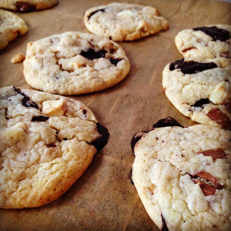 Chocolate Chip Cookies, besser als von Subway. Mein Standart-Cookie-Rezept, das schon jeden überzeugt hat!