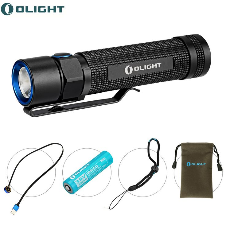 Olight Max 1020 Lumens S2R Baton LED Torch Rechargeable Flashlight mini EDC with Cree XM-L2 LED Portable lighting lampe torches(China (Mainland))