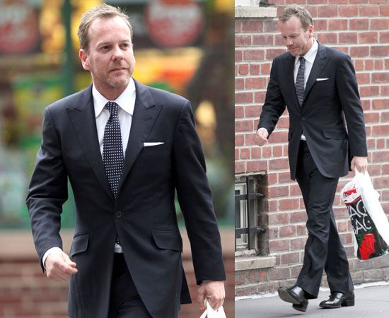 a well dressed man... Keifer Sutherland looks great in this suit in 2010... haha... Love his shoes