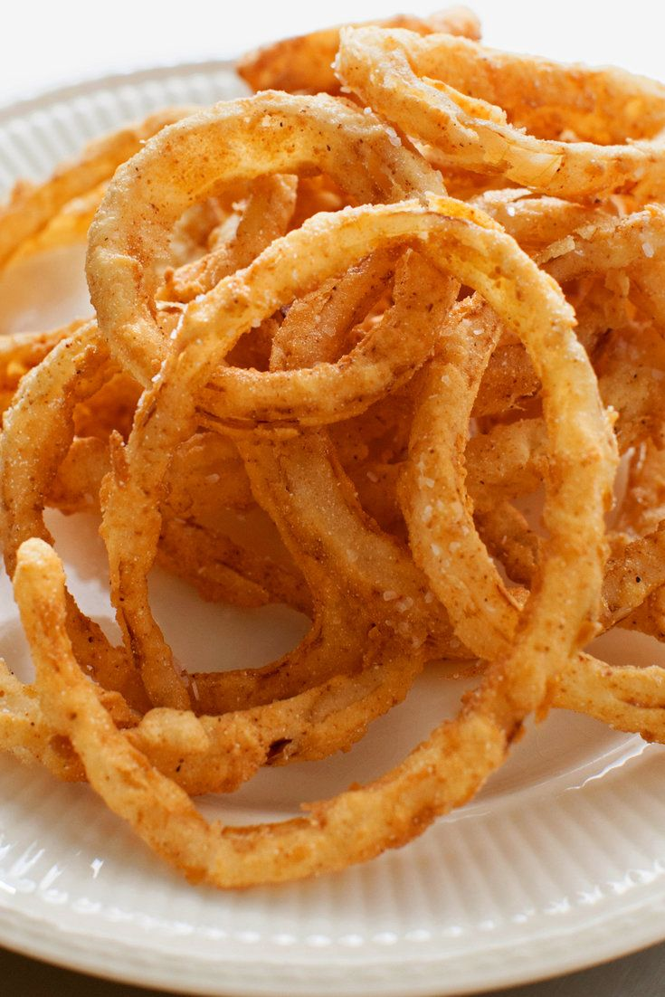 Thin enough to flash-fry but thick enough to let the sweet onion flavor shine through, these onion rings work well as a side dish but also are great as a stand-alone snack Less is more when dipping the rings in the buttermilk mixture and then the flour mixture Be delicate in the coating process, and make sure to let as much liquid and then as much flour fall off as possible