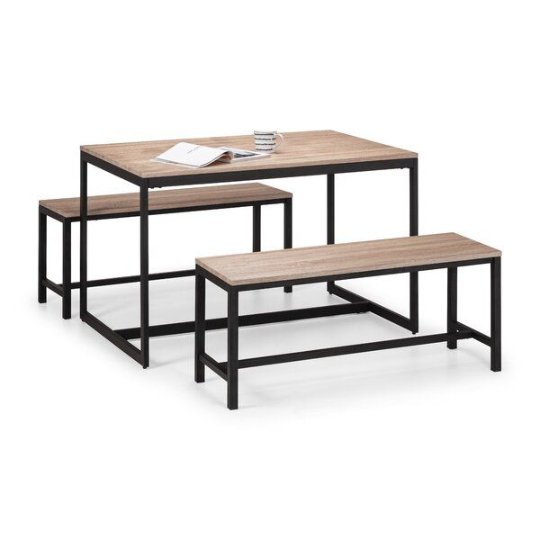 Morse Dining Set With 2 Benches In 2020 4 Seater Dining Table