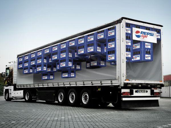 Pepsi Light Truck by Fabian Kirner, via Behance