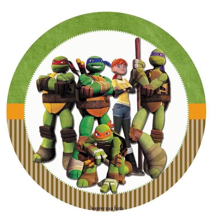 Tag ou topper para docinho ou cupcake Tartarugas Ninja