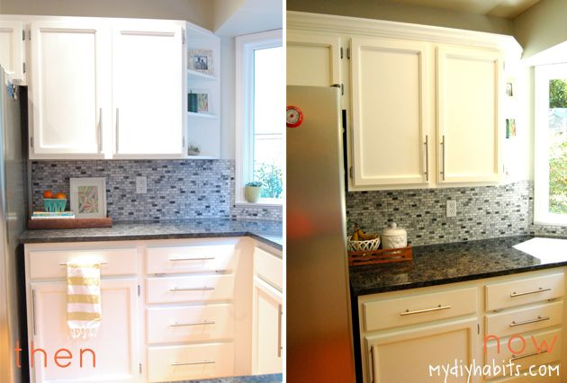 Adding instant drama to kitchen cabinets for Adding molding to kitchen cabinets